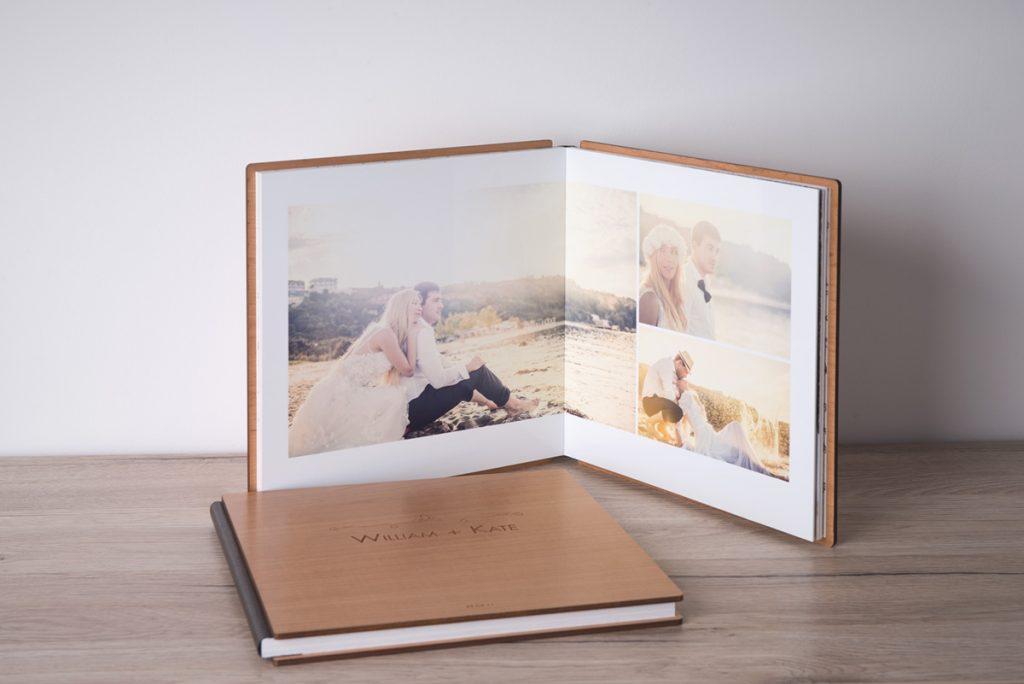 album photo papier argentique couverture en bois